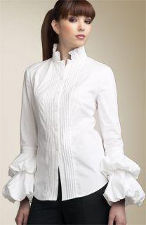 Diane von Furstenberg Goya Ruffle Sleeve Shirt
