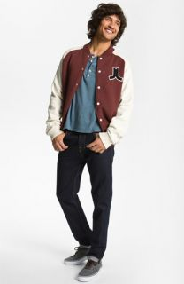 WeSC Varsity Jacket, Howe Henley & WeSC Slim Fit Jeans
