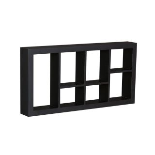 Black Taylor Display Shelf Wall Mounted w 7 Cube Compartments