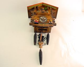 Albert Schwab Karlsruhe German Cuckoo Clock from 1953