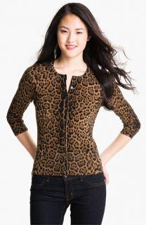 Only Mine Leopard Print Merino Cardigan (Petite)