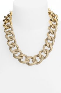 St. John Collection Antique Gold & Crystal Necklace