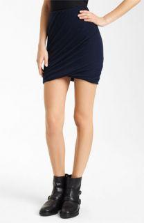 Donna Karan Collection Twisted Cashmere Miniskirt