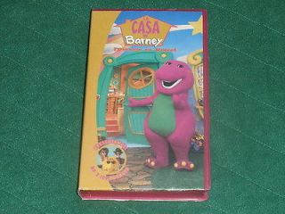 Barney the Dinosaur Spanish VHS Video~La Casa De Barney iDirecto en