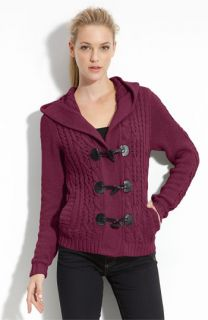 Caslon® Cable Knit Toggle Cardigan