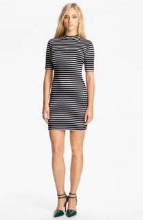 T by Alexander Wang Stripe Stretch Knit Dress