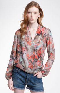 Haute Hippie Love Her Madly Print Silk Surplice Blouse