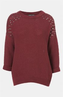 Topshop Studded Shoulder Sweater (Petite)