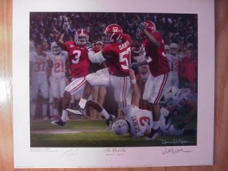 Daniel Moore Alabama Crimson Tide The Pick Six Print Marcell Dareus