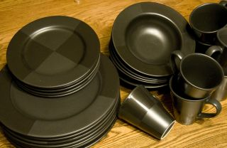 Nautica Arctic Night Dish Set Plates Salad Dinner Bowls Cups Mugs 24pc