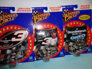DALE EARNHARDT SR. 3 CAR LOT winners circle 1/64 Driver&Race HOOD