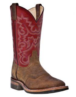 Mens Western Work Boots Dan Post E w Square Steel Toe Brown DP69797