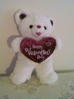 White Dan Dee Sweetheart Teddy Valentine 2012 Plush Bear 20 A Perfect
