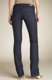 Paige Denim Blue Heights Skinny Leg Stretch Jeans (Dark Resin Wash)