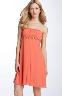 JS Boutique Beaded Chiffon Strapless Dress