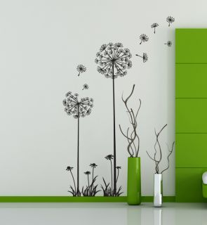Lovely Dandelion Spore Wall Decal Deco Mural Seed Stem Instant Sticker