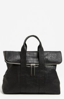 3.1 Phillip Lim 31 Hour Croc Embossed Leather Tote