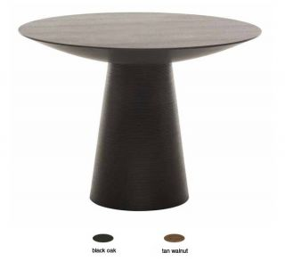 Dania Large Round Stained Wood Dining Table Modern