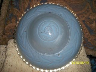 Vintage Very Heavy Glass Lamp Shade Blue