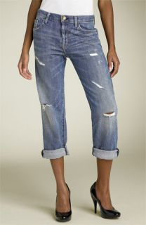 Current/Elliott The Boyfriend Jean Stretch Jeans (Super Love Destroyed Wash)