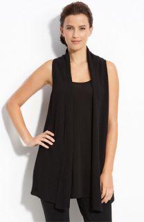 Eileen Fisher Long Wool Vest