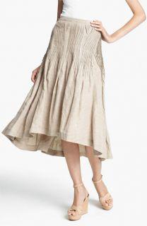 Donna Karan Collection Pintuck Linen Blend Skirt