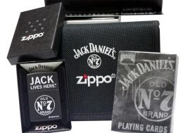 Zippo 28014 Jack Daniels gift set leather card gift set lighter