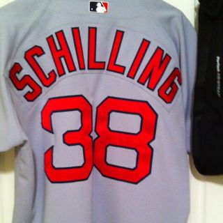 Authentic Redsox Curt Schilling Road Jersey Russell Athletic Sz 44
