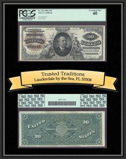 TT 1886 $20 SILVER CERTIFICATE LARGE BROWN DIAMOND BACK RARE FR# 314