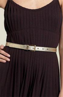 MICHAEL Michael Kors Reversible Metallic Leather Belt