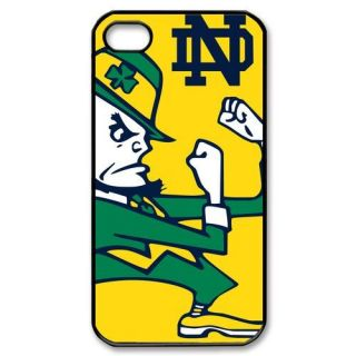 Notre Dame Fighting Irish iPhone 4 or 4S Hard Plastic Black Case Cover