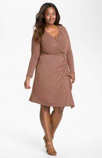 MICHAEL Michael Kors Print Faux Wrap Dress (Plus)