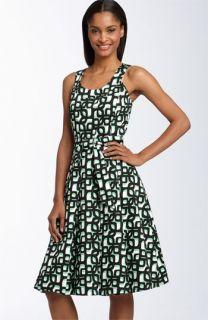 Calvin Klein Print Stretch Cotton Dress
