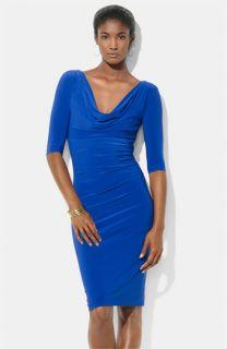 Lauren Ralph Lauren Cowl Neck Jersey Sheath Dress
