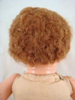 Vintage Effanbee 1940s Composition Crier Baby Doll Short Curly Hair