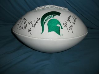 Michigan State Spartans Lorenzo White Signed Football