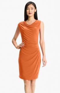 Adrianna Papell Asymmetrical Draped Jersey Dress