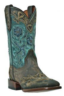 Womens Cowboy Boots Dan Post Bluebird CC Medium B M Square Toe Gray