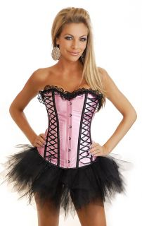 1721 Burlesque Moulin Rouge Costume Corset Tutu Skirt