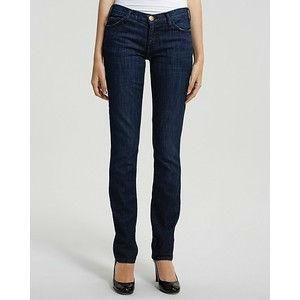 Current Elliott Womens Dark Wash Straight Leg Jeans in Blueberry $208