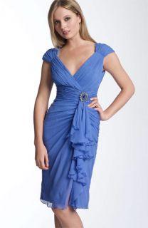 Maggy London Ruched Silk Chiffon Dress
