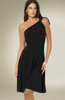 Lauren by Ralph Lauren One Shoulder Jersey Dress