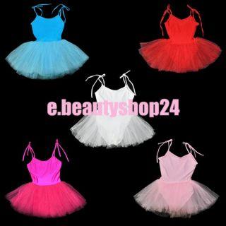Kids Girls Fairy Ballet Dance Leotard Dancewear Tutu Skate Dress
