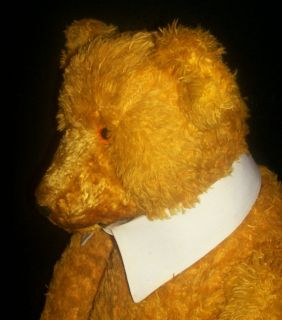 Darling Antique Early Steiff Large Mohair Teddy Bear Growler Works
