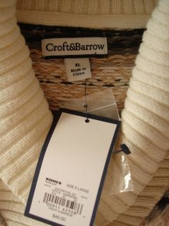 Croft Barrow Womens Pull Over Collar Sweaters Size XL New with Tags