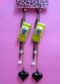 Betsey Johnson Yellow Taxi Cab Dangle Earrings