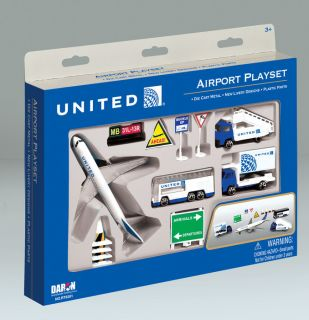 Daron United Airlines Airport Diecast Play Set RT6261