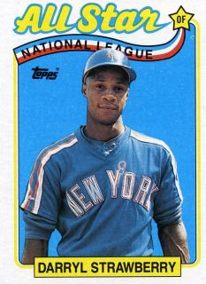 RARE 1989 Topps All Star Darryl Strawberry New York Mets Mint