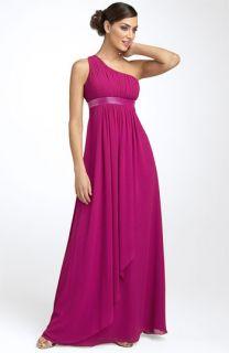JS Boutique One Shoulder Chiffon Gown