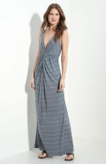 Tory Burch Coral Jersey Maxi Dress